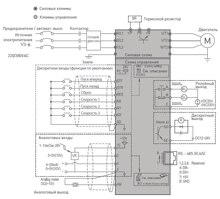Частотный преобразователь esq-a500 схема подключения